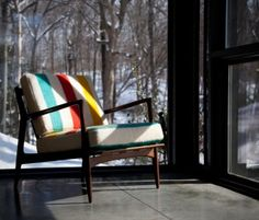 Next time we get a vintage HBC blanket @ the store and a mid-century teak chair I am doing this.
