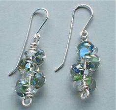 Borosilicate Lampworked Teardrop Silver Filled Earrings   Omisilver - Jewelry on ArtFire
