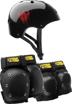 Darkstar Drip Skateboard Helmet/Elbow/Knee Combo S/M #snowboard #snowboards #outdoorgear
