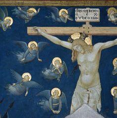 """""""CRUCIFICCIÓN DE JESÚS"""" (DETALLE), POR SIMONE MARTINI."""