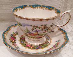 ROYAL ALBERT Fine Bone China Tea Cup & Saucer - Chelsea Bird - Vintage - English