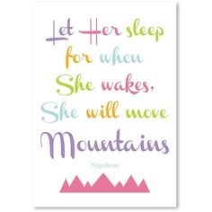 Americanflat 'Let Her Sleep' Wall Art (22 CAD) ❤ liked on Polyvore featuring home, home decor and wall art