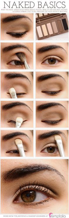 Urban Decay Naked Basics Eyeshadow Palette How-To ...