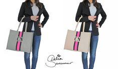 canvas monogram shopper bag