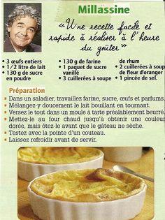 Millassine+...+dessert+d'enfance+de+Pierre+Perret Flan Dessert, Chefs, Sweet Corner, French Desserts, Greek Recipes, Confectionery, I Love Food, Brunch, Food And Drink
