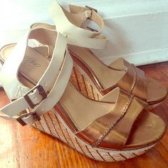 Women's wedges Stylish wedges you can dress up or dress down! Barely worn, very comfortable! Mossimo Supply Co Shoes Wedges