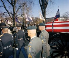 1963-11-24: JFK's body leaves the White House for the Capitol.