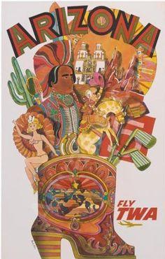 TWA Arizona Travel Poster.