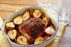 Asado de lomo con patatas y peras. | Cuchillito y Tenedor