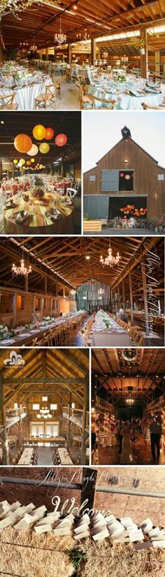 Can you imagine a wedding in a old barn...so cool!