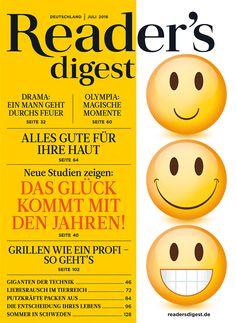Das Glück kommt mit den Jahren - Reader's Digest Juli 2016