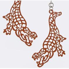 Laser cut crocodile ornate earrings Laser cut crocodile ornate earrings gator edc 4th Fourth of July Jewelry Earrings