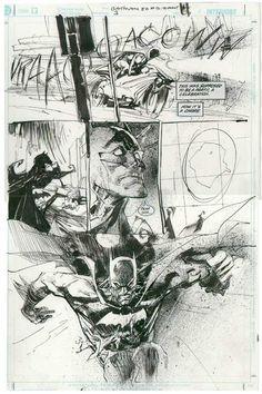 A Batman 80-page Giant page by Bill Sienkiewicz, 3/4/2002.