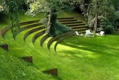 Laying stairs in the garden - a decorative element or necessity - Green garden stairs-landscaping sustainable-ideas - Landscape Architecture, Landscape Design, Garden Design, Large Backyard Landscaping, Backyard Waterfalls, Sloped Backyard, Backyard Ponds, Patio Grande, Garden Stairs