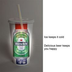 Sneak your beer around in a fast food cup...