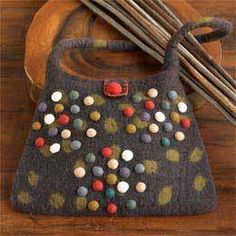 wool felted bag