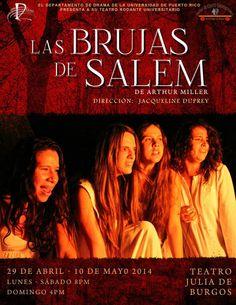 Las Brujas de Salem @ Teatro Julia de Burgos, Río Piedras #sondeaquipr #brujasdesalem #teatrojuliadeburgos #upr #riopiedras