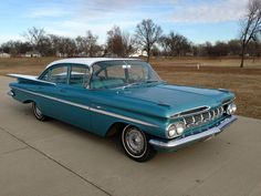 1959 Chevy Bel-Air 4-Door Sedan, 6-Cyl Automatic. Engine runs fine, appears to be a 235
