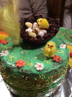 La Mona de Pasqua. Homemade Easter cake.