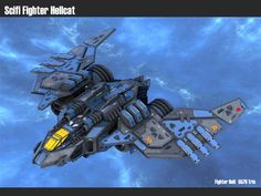 Scifi Fighter Hellcat by msgamedevelopment on DeviantArt