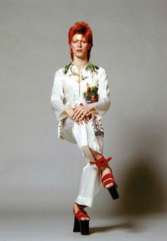 the-70s-fashion-archive: Year: 1973 Model(s): David Bowie...