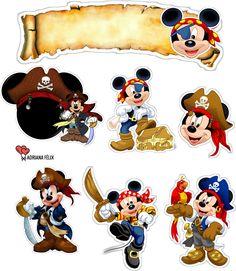 Bolo Mickey E Minnie, Festa Mickey Baby, Mickey Mouse Cake Topper, Fiesta Mickey Mouse, Theme Mickey, Mickey Mouse And Friends, Mickey Mouse Birthday, Pirate Theme, Disney Mickey