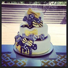 bow tie cake! Love this for my little sisters baby shower!