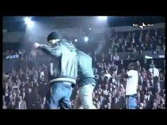 Eminem, Lil Wayne - Drop the World live.  Em really tears it up the last minute and a half.