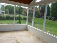Screen Porch with knee wall