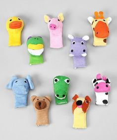 Bath Puppets - Set of Ten by Sassafras on #zulily today! $13.99