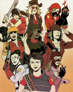 Tf2 girls this is probably one of the best gender swap ive seen of these people