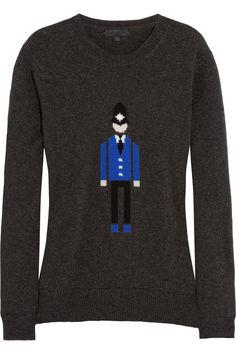 Burberry ProrsumIntarsia cashmere sweater HK$12,000