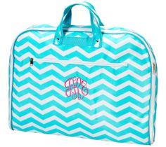 Aqua Chevron Garment Bag