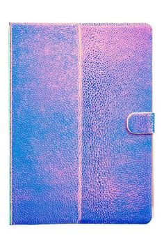 Firm case for the iPad of embossed faux leather. With a flap of the magnet button closure. iPad Air, iPad Air 2, iPad Pro for 9.7 inches. Ipad Air Wallpaper, Cute Ipad Cases, Ipad Air 2, H&m Online, Ipad Pro, Purple, Leather, Room Inspiration, Metallic