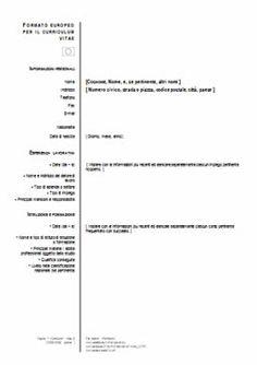 curriculum-europeo-da-compilare-word