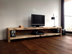 Lumber TV sideboard You are in the right place about Audio Room interior Here we offer you the mo. Low Tv Stand, Flat Screen Tv Stand, Tv Stand Decor, Tv Decor, Home Decor, Tv Furniture, Pallet Furniture, Luxury Furniture, Living Room Tv