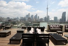 Thompson Hotel rooftop. King Street West.