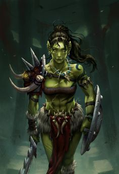 Ursa Skingorger, Orc Warrior & Turcolier of the Knights Ascendant Fantasy Girl, Dark Fantasy, Chica Fantasy, Fantasy Races, Fantasy Rpg, Fantasy Women, Medieval Fantasy, Fantasy Artwork, Dungeons And Dragons Characters