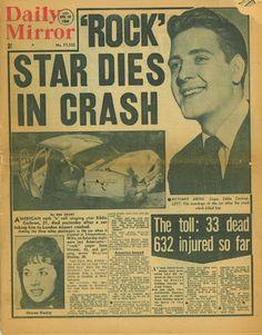 Eddie Cochran Death today anniversary 4/17/60 RIP We Love u Eddie~