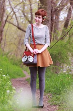 Does anyone good with fashion know how to retain one's style in the spring and summer when said style is largely blouses and tights?