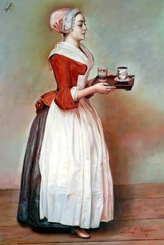 """The Chocolate Girl"" by Liotard."