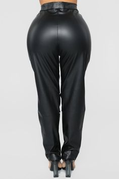 Available In Black/RedHigh RisePU Fabric ColorblockFront ClosureWide FlareFull inseam. Red Fashion, Womens Fashion, Satin Trousers, Pu Fabric, Moto Pants, Bad Blood, Leather Pants, Leather Outfits, Salmon Recipes