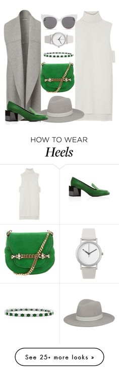 """""""BAB"""" by jiabao-krohn on Polyvore featuring ADAM, Janessa Leone, Gucci, Pierre Hardy, Blanc & Eclare, Bling Jewelry, Normal Timepieces and sweaterweather"""