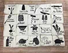 Flour Sack Towel Fathers Day Gift Funny Kitchen Towels