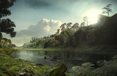 3D view of Creswell Crags 120,000 years ago - Michael Auty