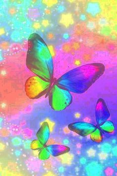 Mariposa colorida | Colorful butterfly - #arco iris #rainbow Emo Wallpaper, Butterfly Wallpaper, Cellphone Wallpaper, Wallpaper Backgrounds, Iphone Wallpaper, Butterfly Drawing, Butterfly Fairy, Butterfly Design, Beautiful Butterfly Pictures