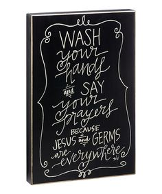 Found the humor in this. lol This 'Wash Your Hands' Box Sign is perfect! Say That Again, Lol, Box Signs, Where The Heart Is, Humor, Quotations, At Least, Inspirational Quotes, Wisdom
