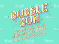 Vector retro Bubble gum bold font design, alphabet, typeface, typography royalty-free vector retro bubble gum bold font design alphabet typeface typography stock vector art & more images of typescript