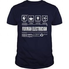 I Love FORMAN ELECTRICIAN Shirts & Tees