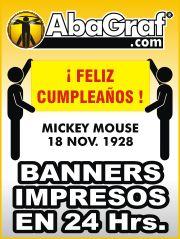 Banners impresos para toda ocasion. www.AbaGraf.com